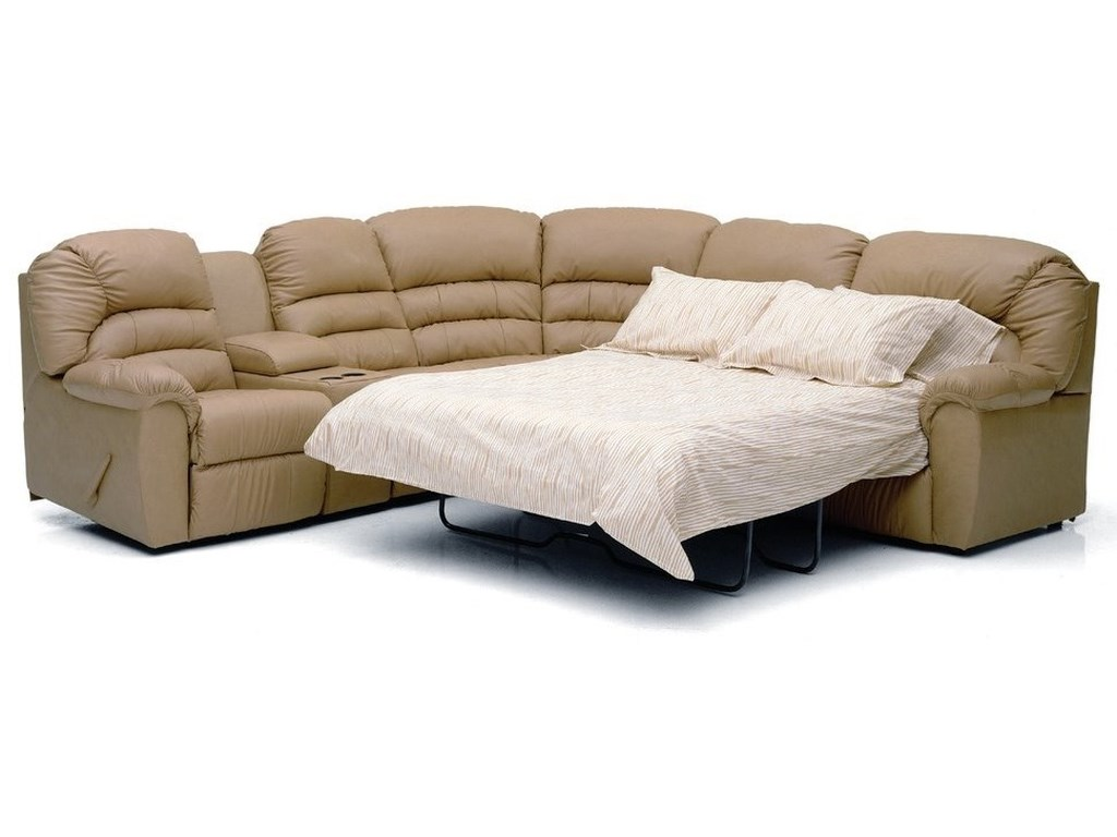 Palliser Taurus Casual Sectional Sofa Recliner with Sleeper ...