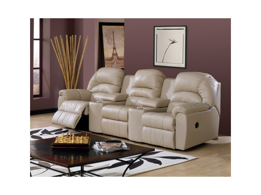 Taurus Casual Power Sectional Sofa Recliner with Cupholders and Storage by  Palliser at Dunk & Bright Furniture