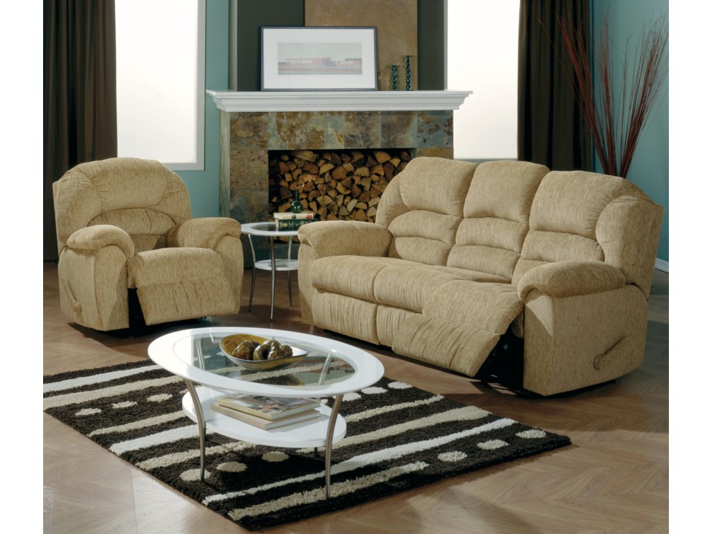 Shown in Room Setting with Rocker Recliner
