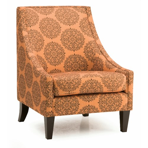 Palliser Theia Contemporary Accent Chair with Low Profile Track Arms