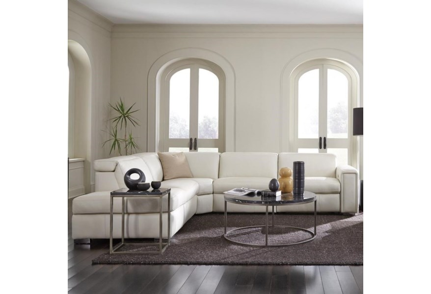 Palliser Titan 3-Seat Sectional Sofa With Contemporary European-Style Power Headrests And 2 Power Recliners   Belfort Furniture   Reclining Sectional Sofas