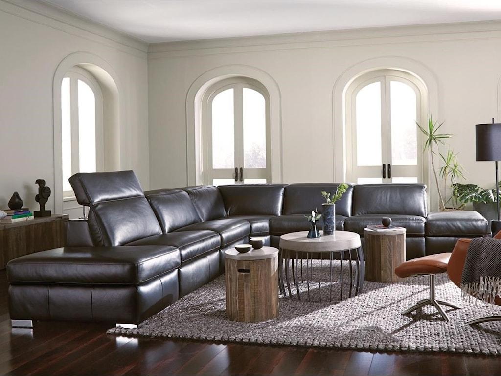 Palliser Titan4-Seat Sectional Sofa w/ Pwr Head & 2 Reclin