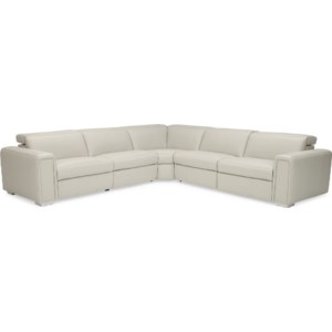 Palliser Titan 4-Seat Power Reclining Sectional Sofa With Contemporary European-Style Power Headrests And USB Ports   Belfort Furniture   Reclining Sectional Sofas