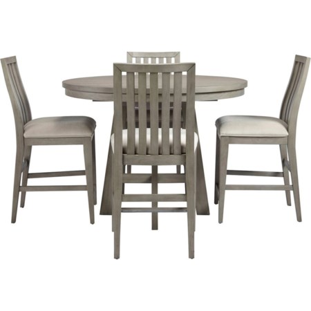 5-Piece Counter Height Dining Table Set