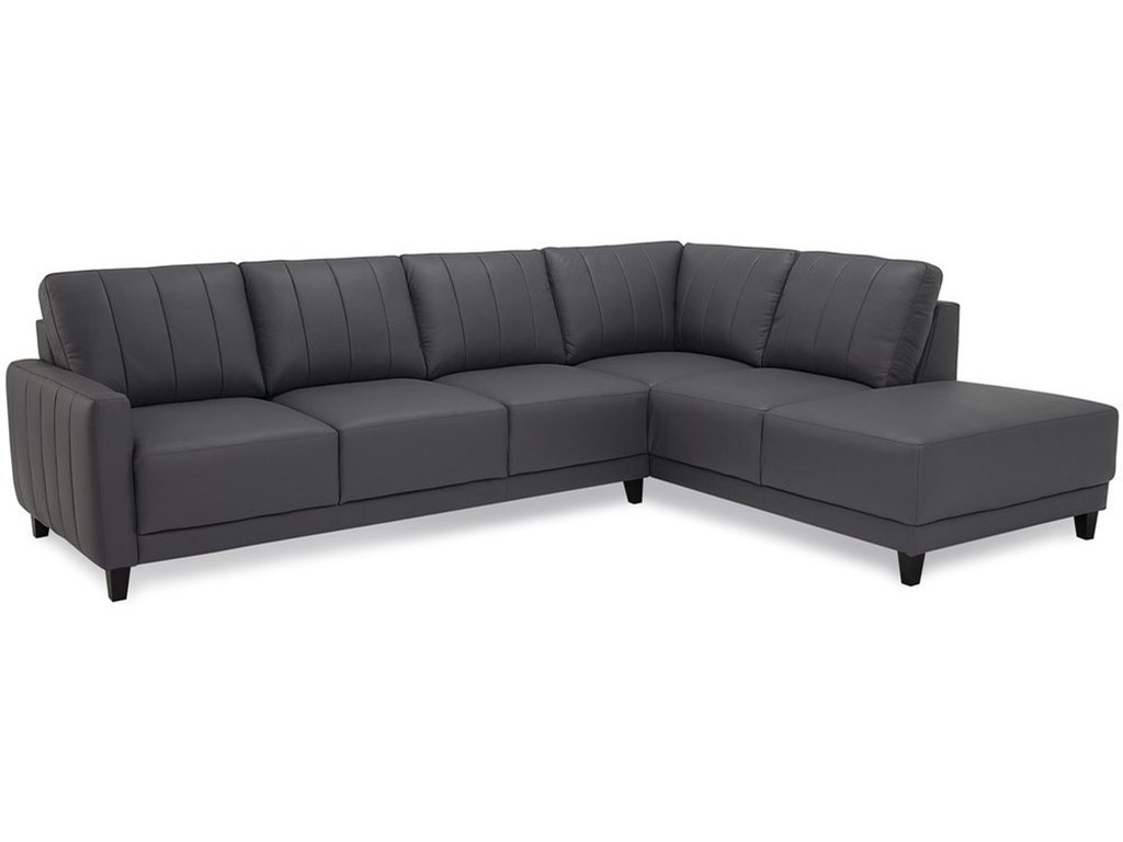 Palliser VERSO Contemporary Sectional Sofa with Chaise ...