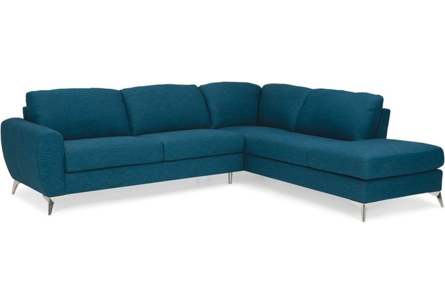 Palliser Vivy Contemporary L-Shaped Sectional with Bumper ...
