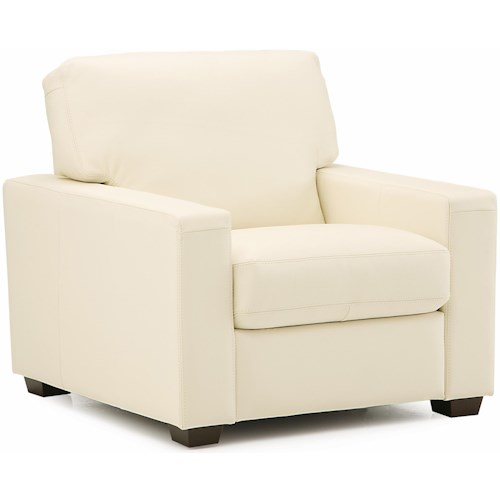 Palliser Westend Contemporary Upholstered Chair with Track Arms