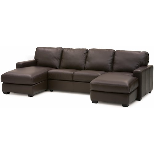 Palliser Westend Contemporary 3 pc. Sectional with RHF and LHF Chaise