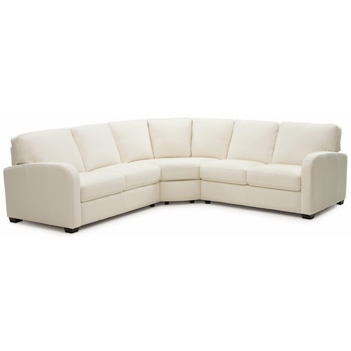 Palliser Westside Contemporary 3 pc. Sectional with Curved Track Arms