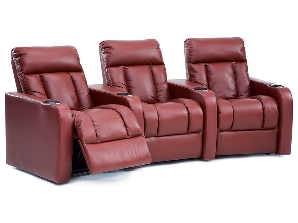 Palliser Wills 3 Seat Reclining Sectional with Cupholders ...