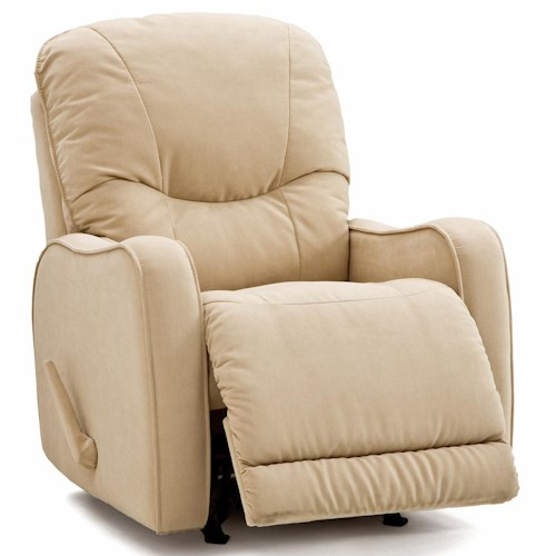 Palliser Yates Casual Swivel Rocker Recliner with Sloped Track Arms