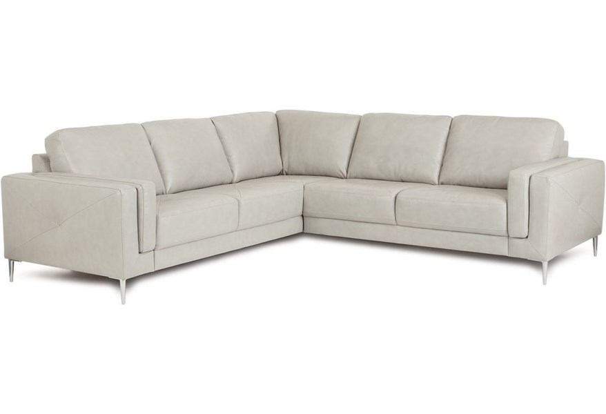 Zuri Contemporary Sectional Sofa with Metal Legs by Palliser at Furniture  and ApplianceMart