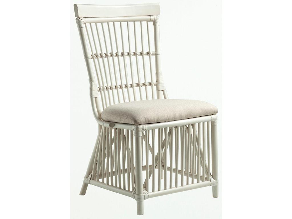 Panama Jack by Palmetto Home MillbrookCream Rattan Side Chair