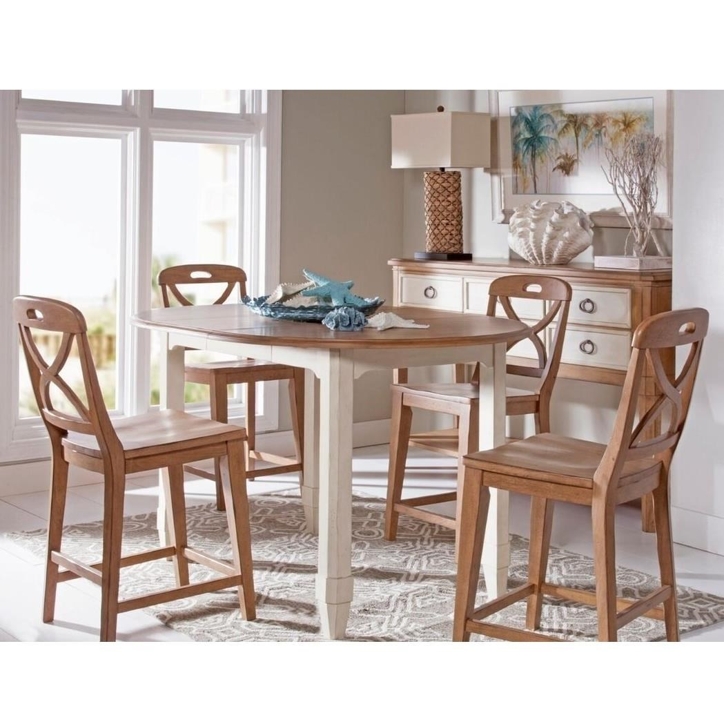 Panama Jack By Palmetto Home Millbrook5 Piece Counter Height Dining Set ...