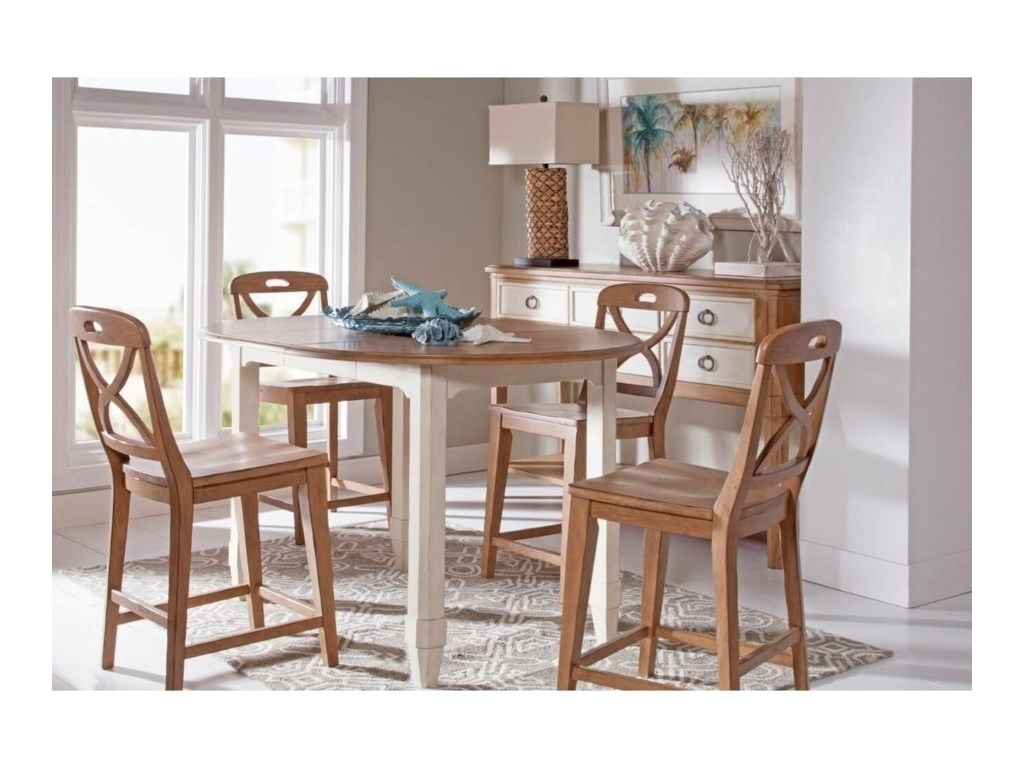 Panama Jack by Palmetto Home MillbrookRound Leg Table