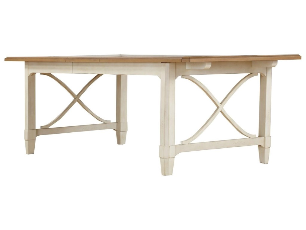 Panama Jack by Palmetto Home MillbrookRect Leg Table Stain Top w/Cream Base