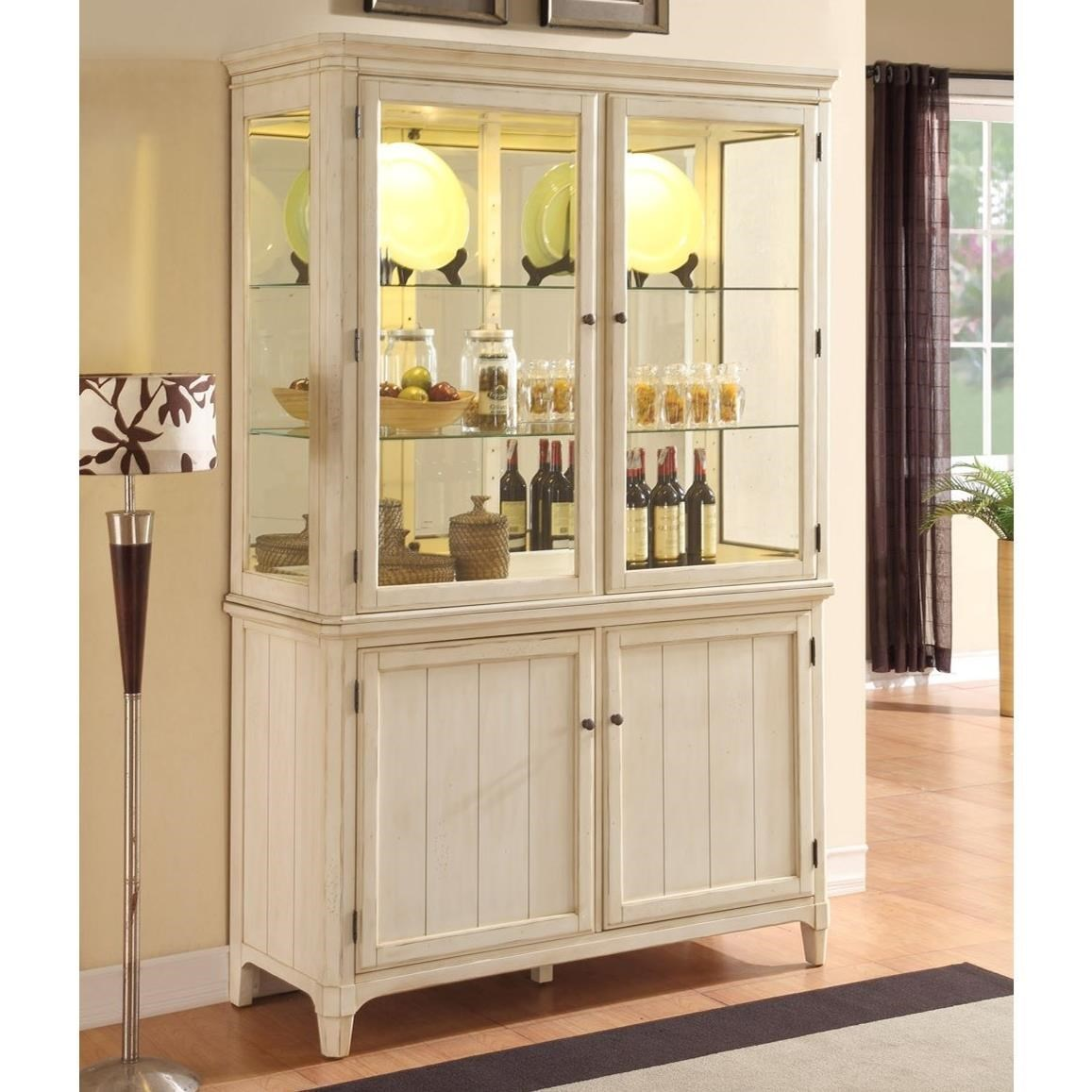 Panama Jack by Palmetto Home MillbrookCurio Cabinet ...  sc 1 st  Baeru0027s Furniture & Panama Jack by Palmetto Home Millbrook Curio Cabinet with Built-in ...