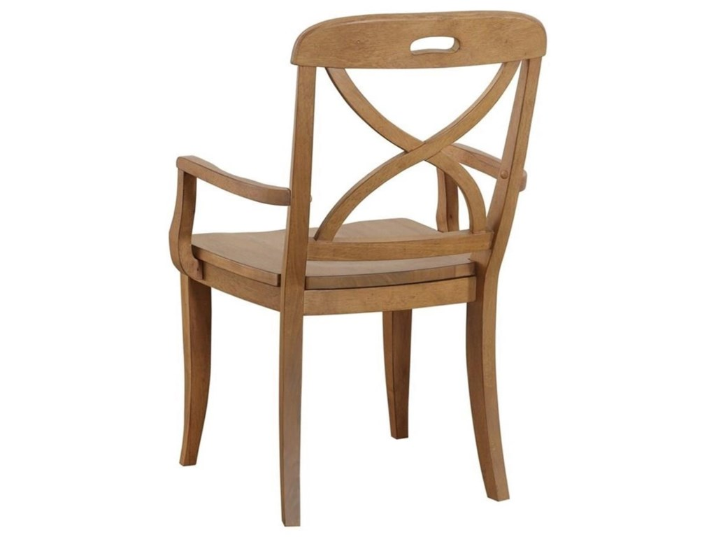 Panama Jack by Palmetto Home MillbrookX Back Dining Arm Chair