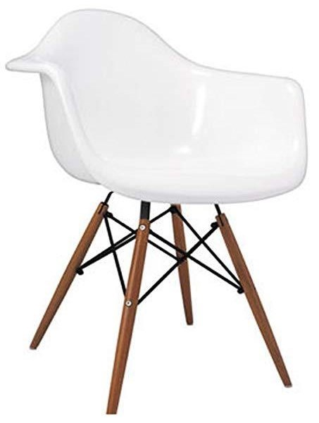 Pangea home daphney arm chair with white seat