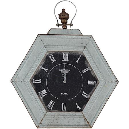 Metal Distressed Clock