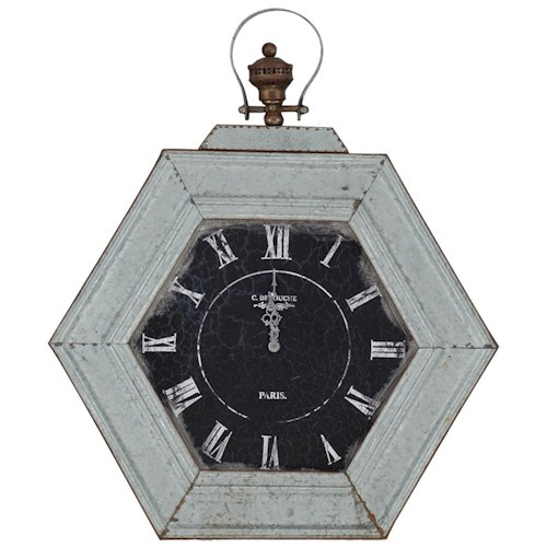 Paragon Clocks Metal Distressed Clock