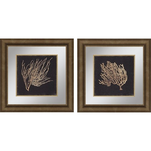 Paragon Wall Art Set of 2 Gold Coral II Framed Art | Wayside ...