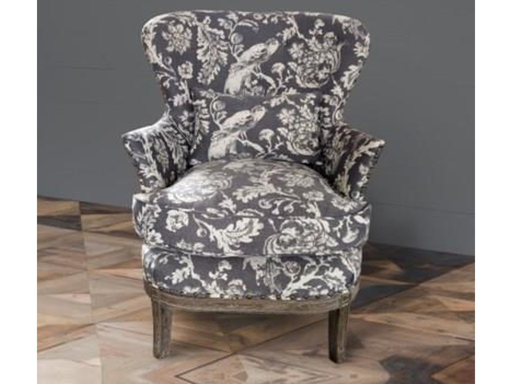 Park Hill Collection ChairGrey Bird Toile Upholstered Arm Chair