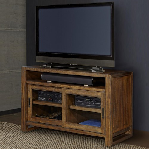 Parker House Allister 55 Tv Console With Sliding Glass Doors Beck 39 S Furniture Tv Stands