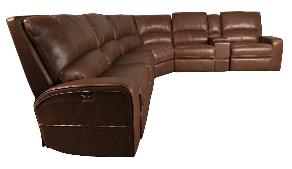 Parker Scott AltaAlta  Leather Match Power Sectional