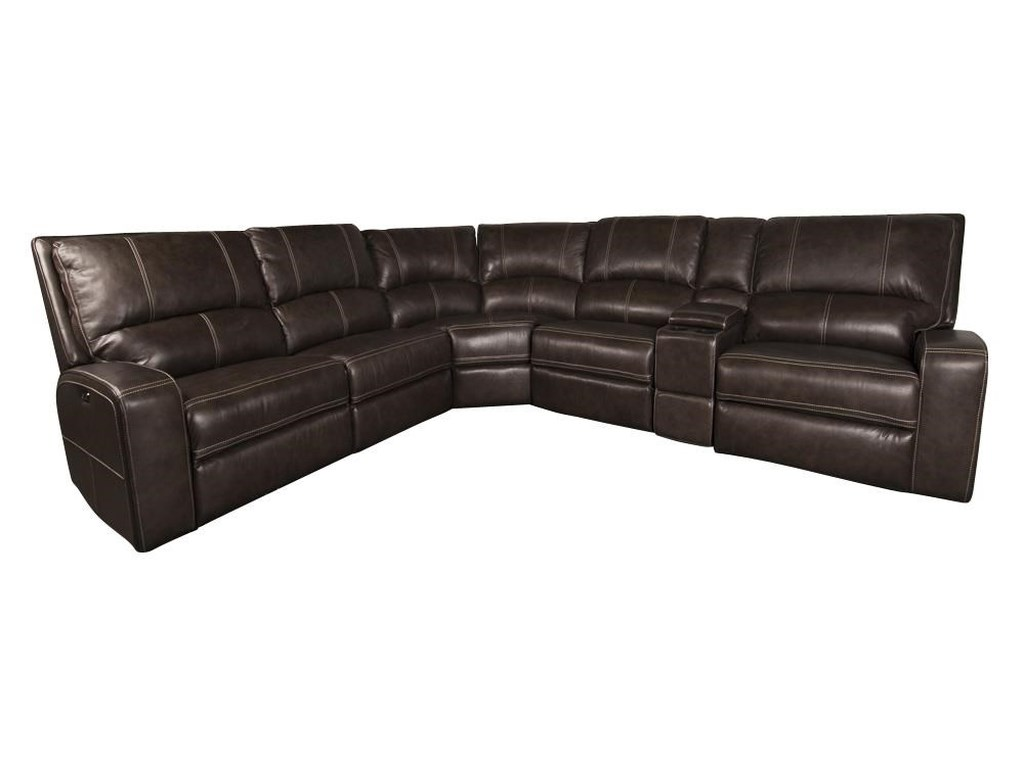 Parker House AltaAlta  Leather Match Power Sectional