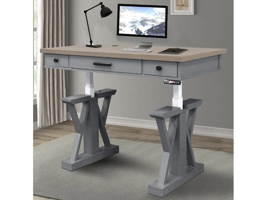 Paramount Furniture Americana ModernPower Lift Desk