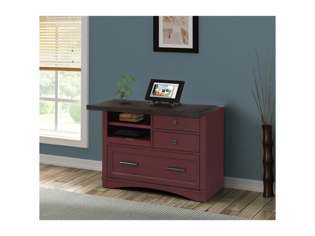 Parker House Americana ModernFunctional File w/ Power Center