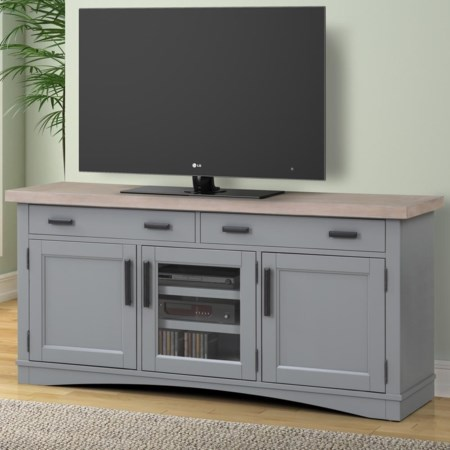"63"" TV Console with Power Center"