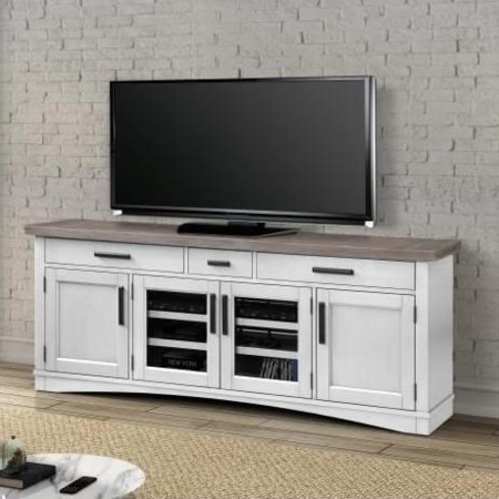 "76"" TV Console with Power Center"