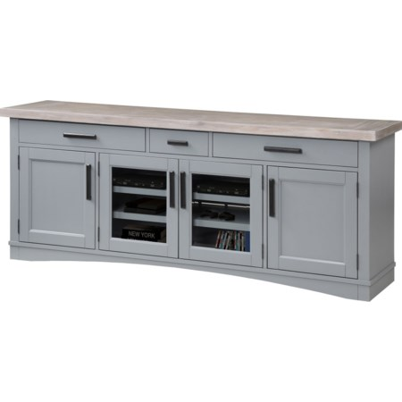 """76"""" TV Console with Power Center"""
