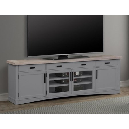 """92"""" TV Console with Power Center"""