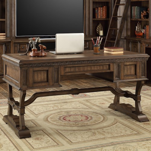 Parker House Aria Library Traditional Writing Desk with 3 Drawers