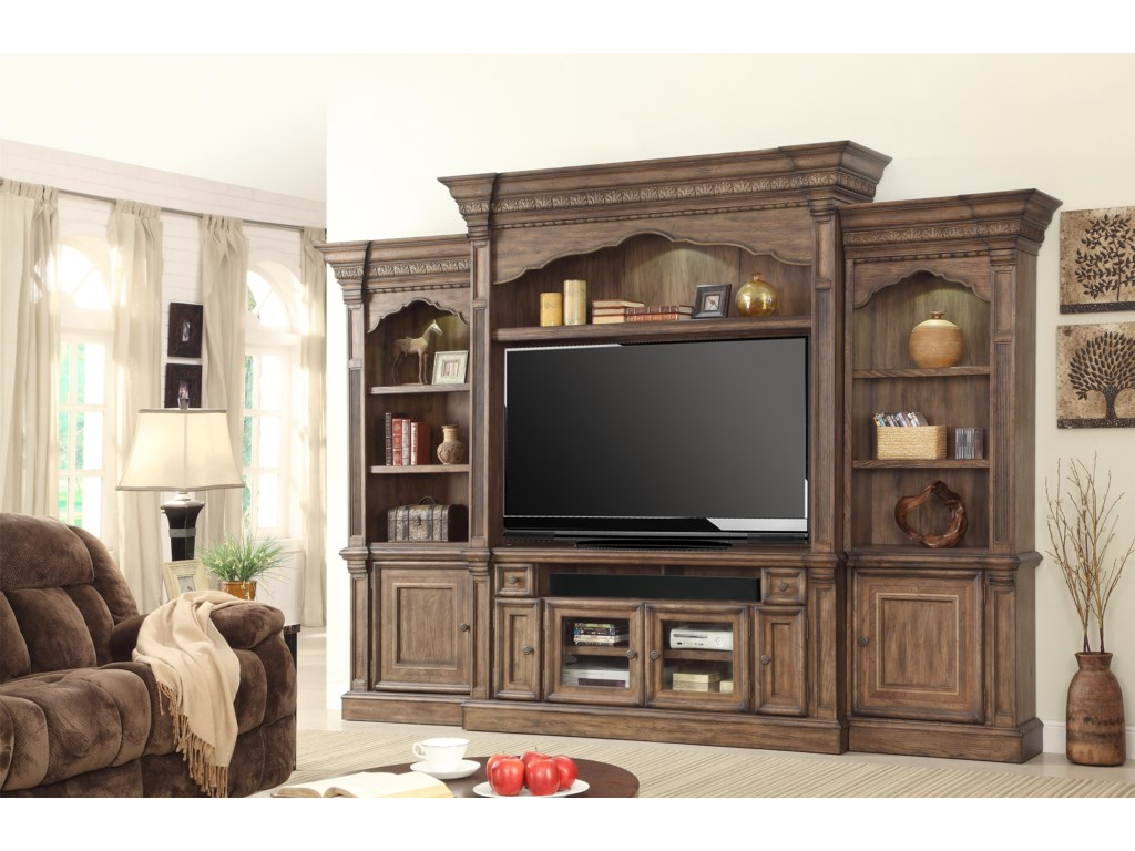 Parker House Aria Library5 Piece Wall Entertainment Center