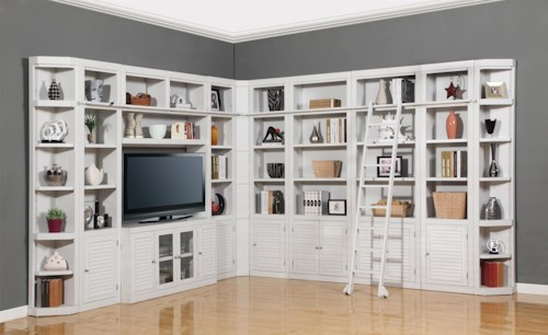 Parker House Boca Eleven-Piece Deluxe Entertainment Center Two-Wall Unit
