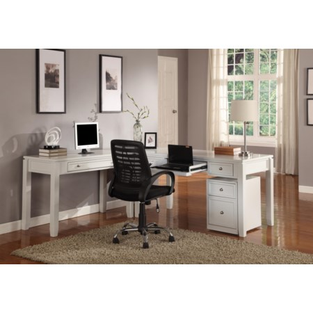 Three-Piece L-Shaped Desk