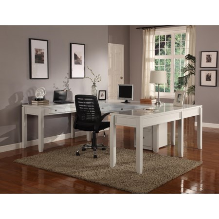 Five-Piece U-Shaped Desk with 5 Drawers
