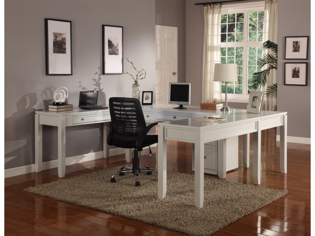 Parker House BocaFive-Piece U-Shaped Desk with 5 Drawers