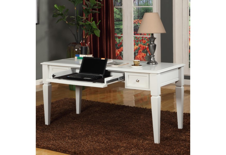 Parker House Boca 60 Writing Desk With Drop Front Keyboard Drawer And 2 Task Drawers Wilcox Furniture Table Desks Writing Desks