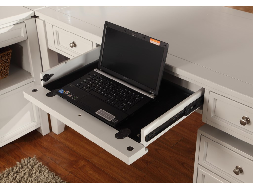 Drop Front Pull-Out Drawer for Keyboard or Laptop Storage