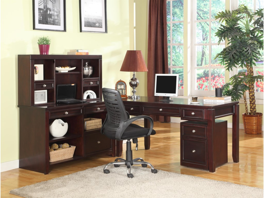 Shown with Corner Table, Writing Desk and Rolling File