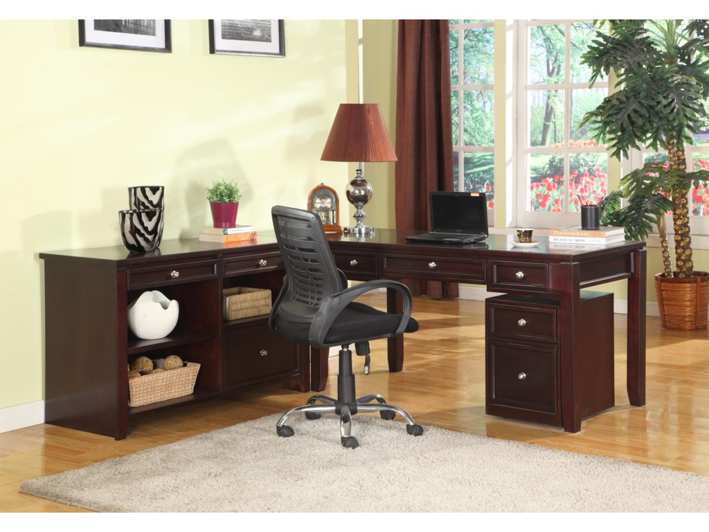 Shown with Corner Table, Rolling File and Writing Desk