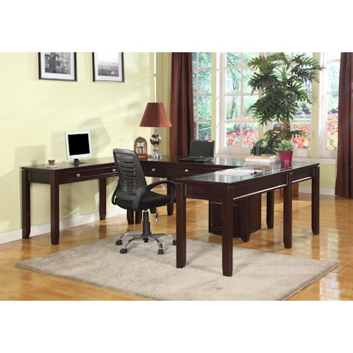 Parker House Boston Five-Piece U-Shaped Desk with 5 Drawers