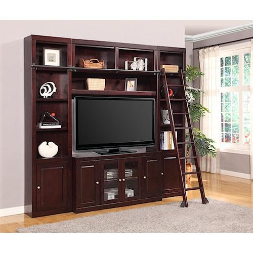 Parker House Boston Four-Piece Entertainment Center Bookcase