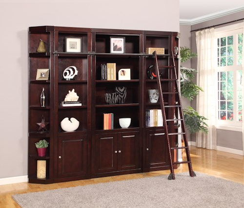 Parker House Boston Five-Piece Library Wall Unit