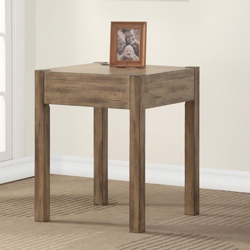 Parker House Brighton Contemporary Corner Table with Cord Access Hole
